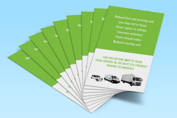 Priority Driver Training business card showing the reverse side