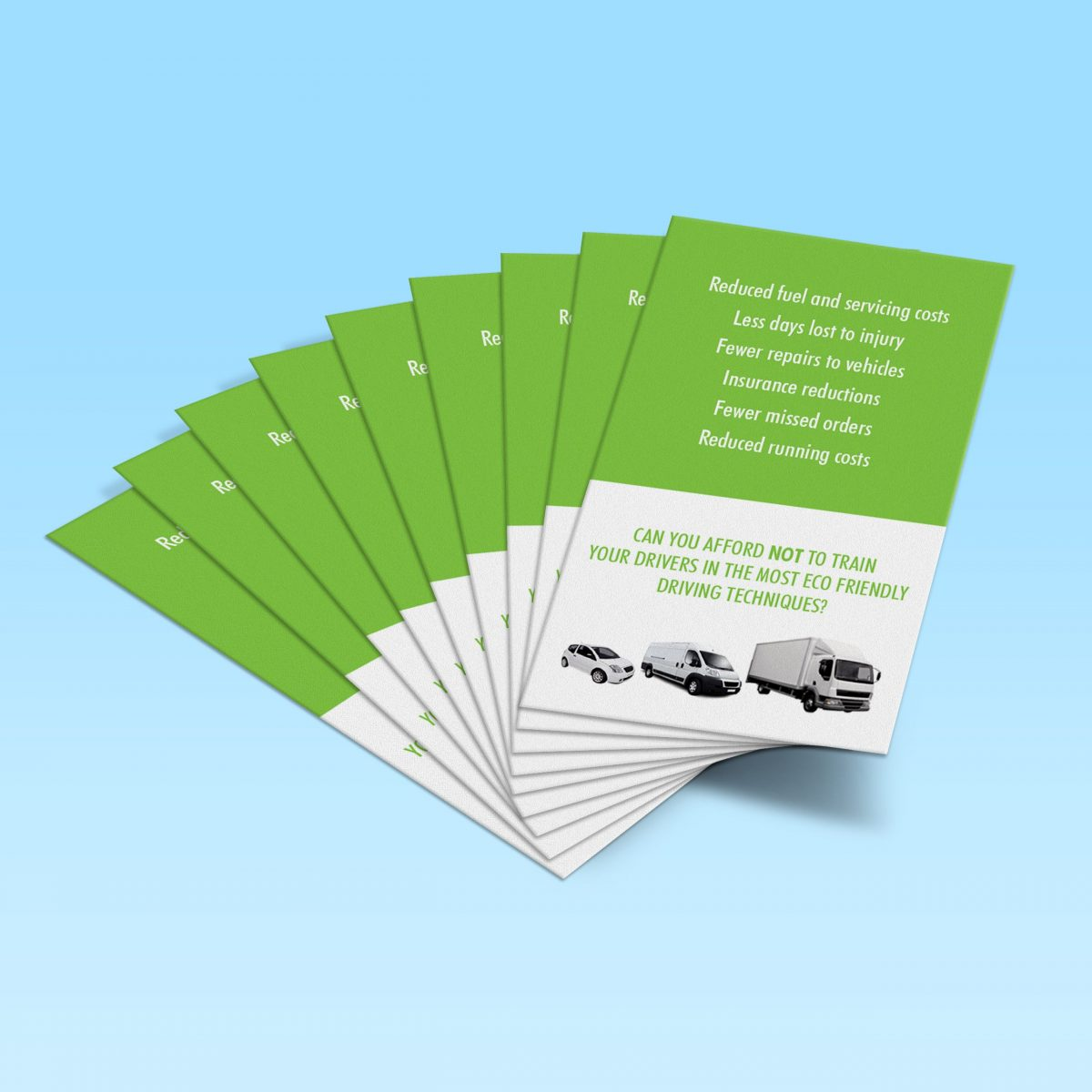 Print branding for Priority Driver Training