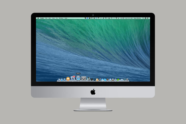 Apple iMac on grey background