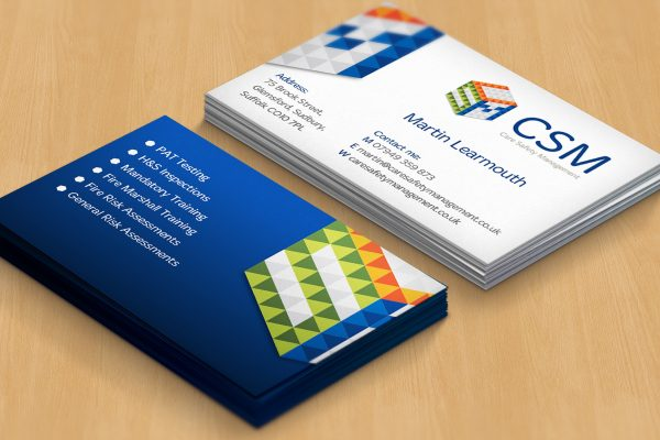 Business card header image