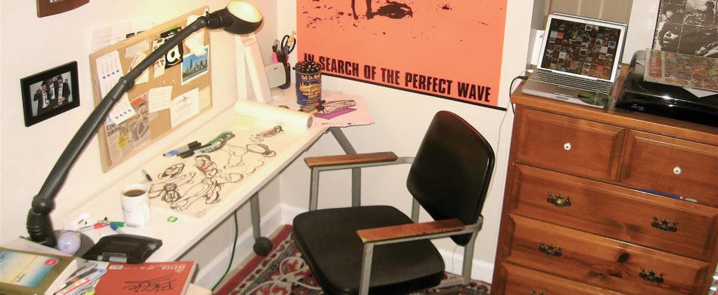 A messy design studio