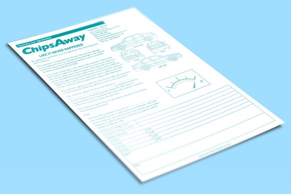 A4 NCR agreement pad for ChipsAway Ipswich
