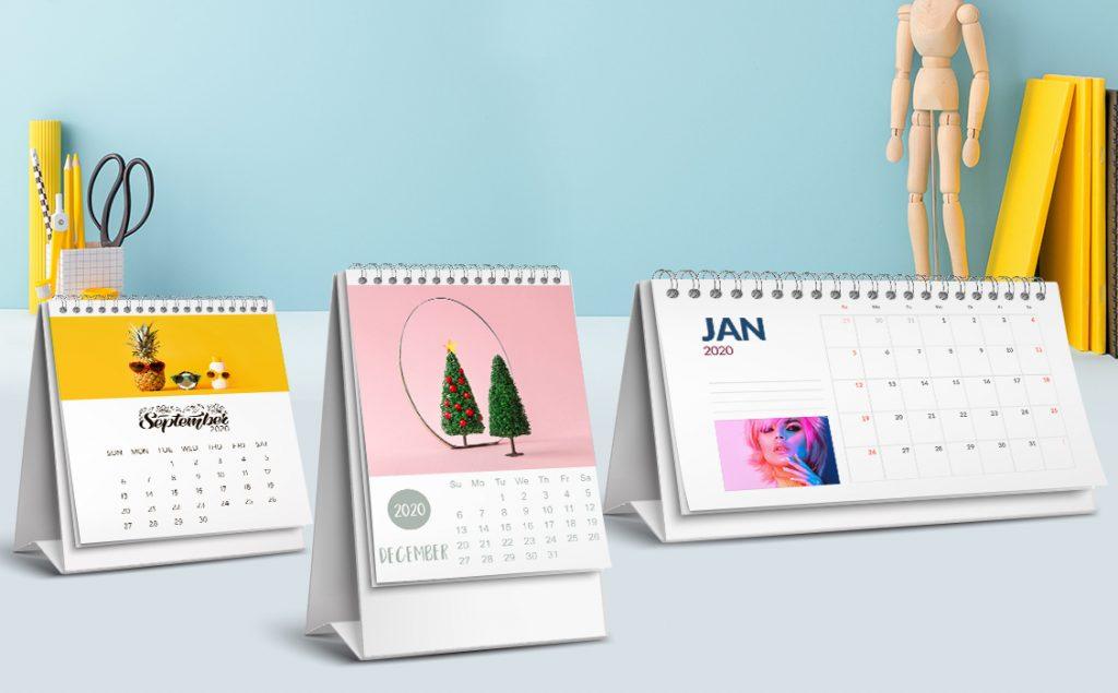 desk calendars on a desk