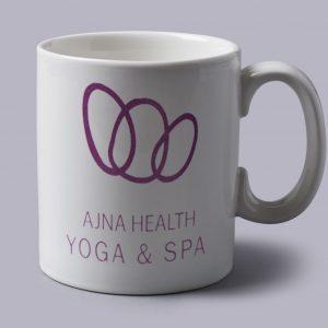 Printed earthenware mug