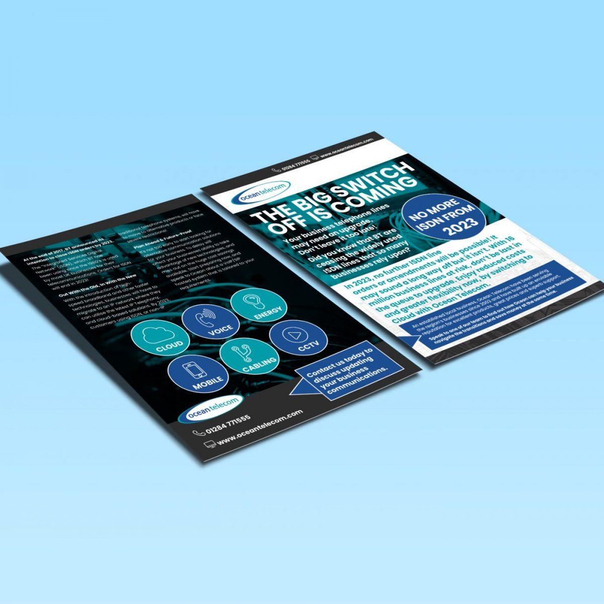 Flyer design for Ocean Telecom