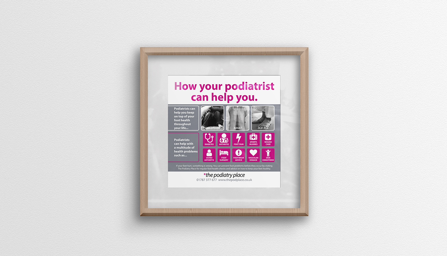 Poster design and print for The Podiatry Place