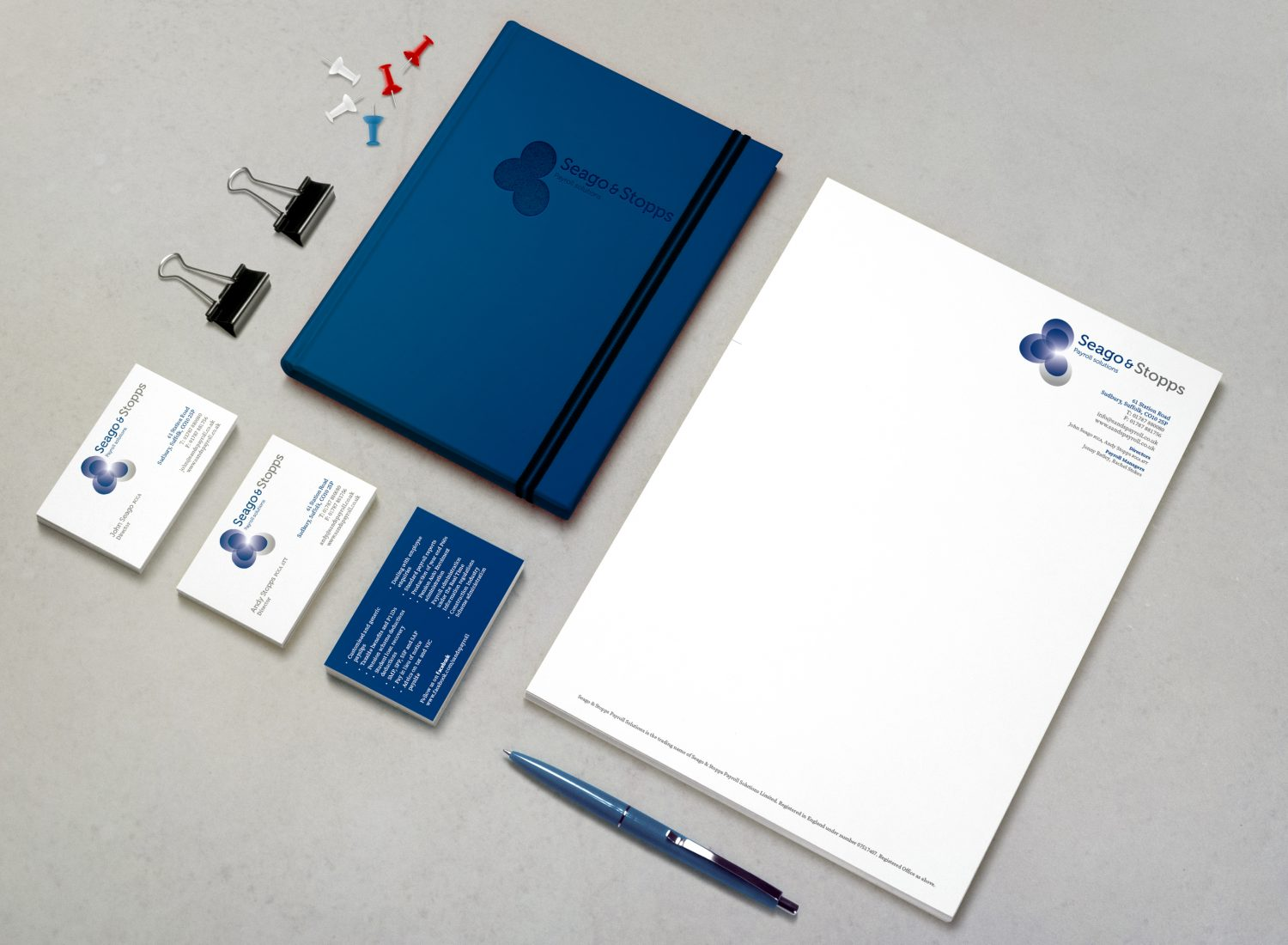 Stationery design and print services