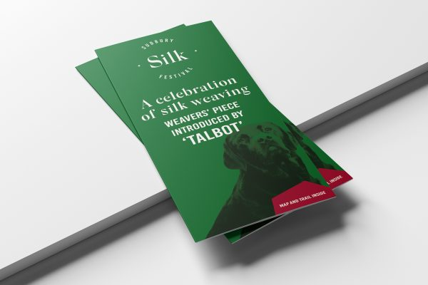 Leaflet design and print for sudbury silk showing front cover