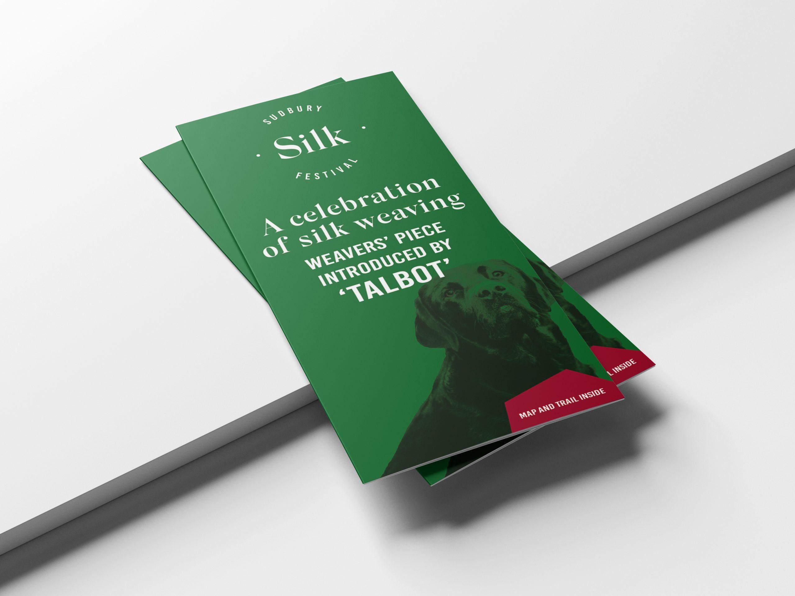 Leaflet design and print for the Sudbury Silk Festival