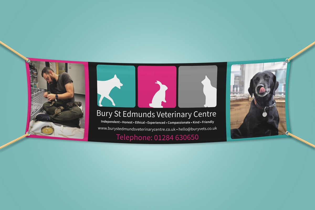 PVC banner designed and printed