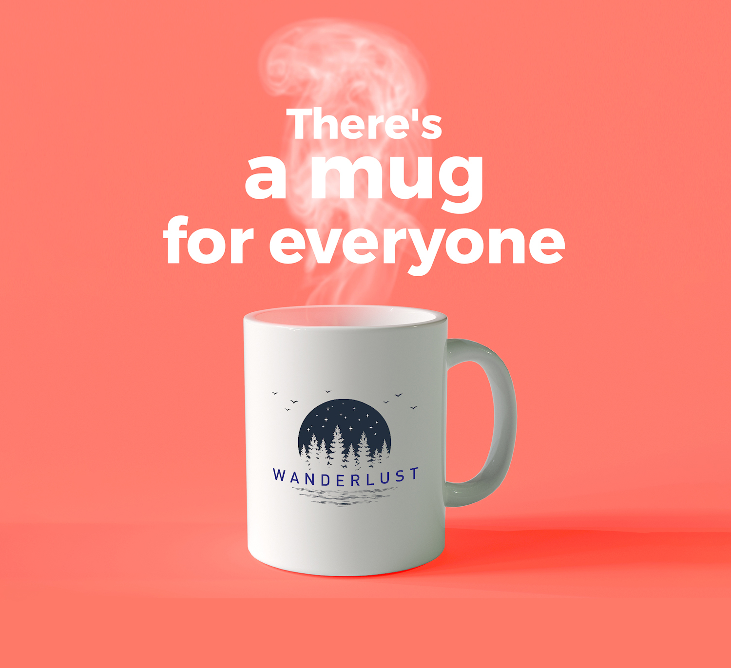 Custom printed mugs branded with your message
