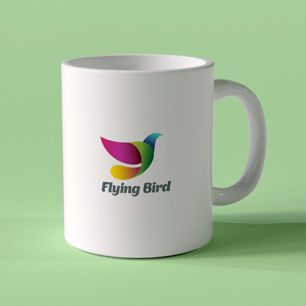 mug on green background