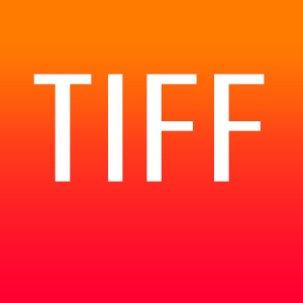 TIFF file format with white text on a graduated orange background