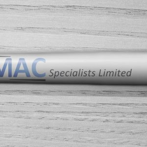 CMAC Specialists promotional pen printed with logo