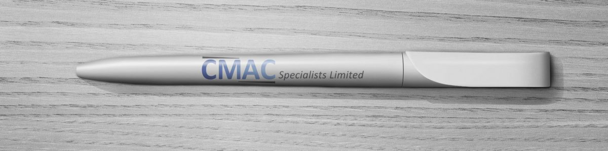 Promotional items printed for CMAC Specialists