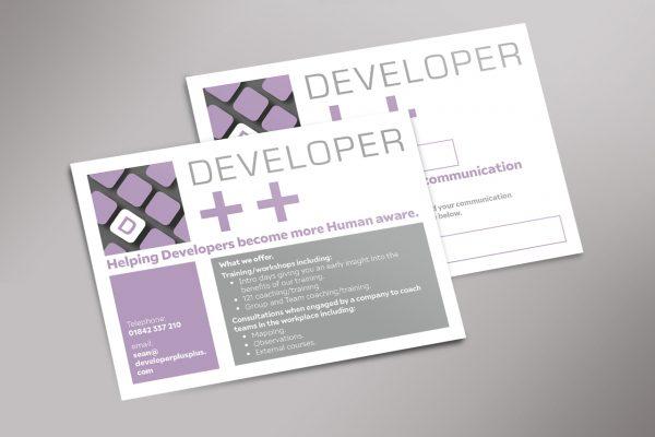 Developer plus plus post cards