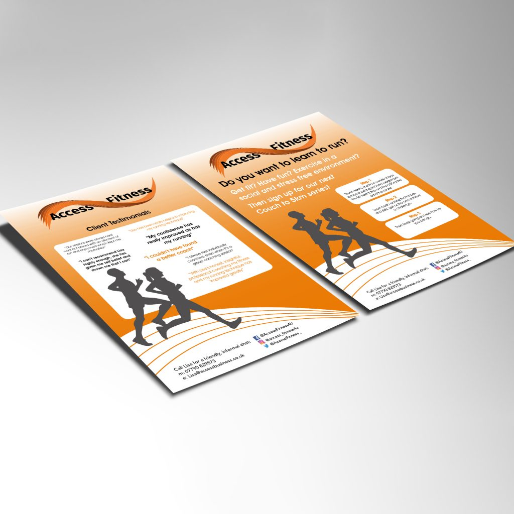 Access Fitness A5 flyers