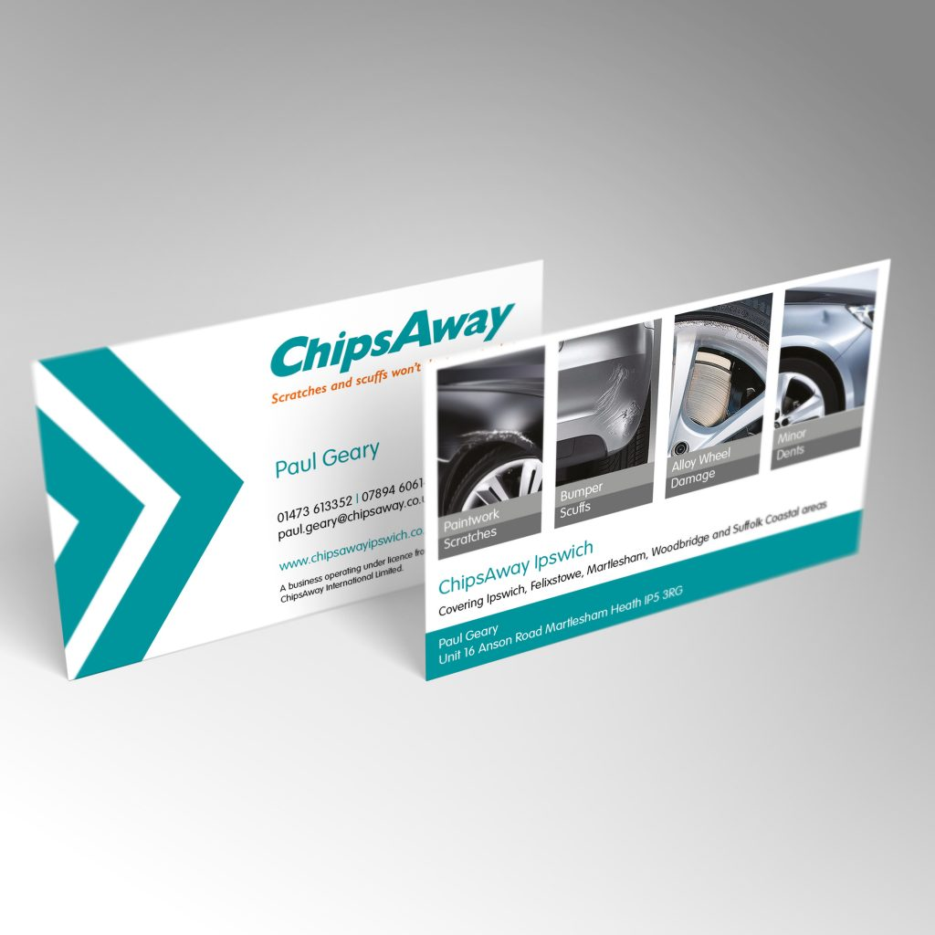 ChipsAway business card front and back