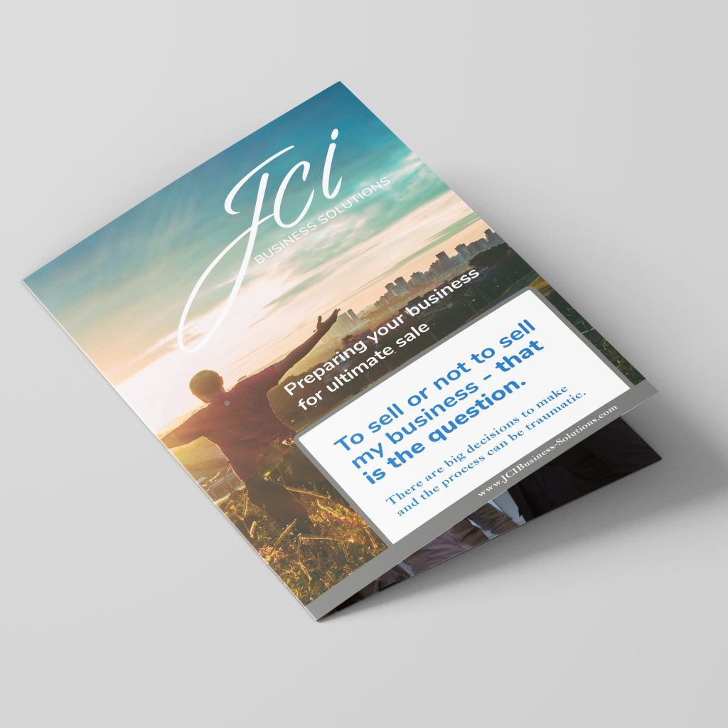 JCI Business Solutions A5 folded leaflet showing front cover