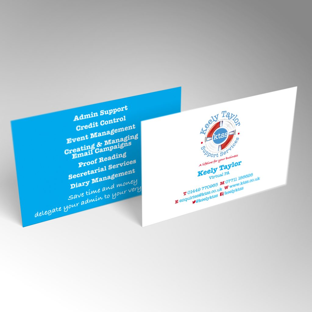 KTSS business card front and back