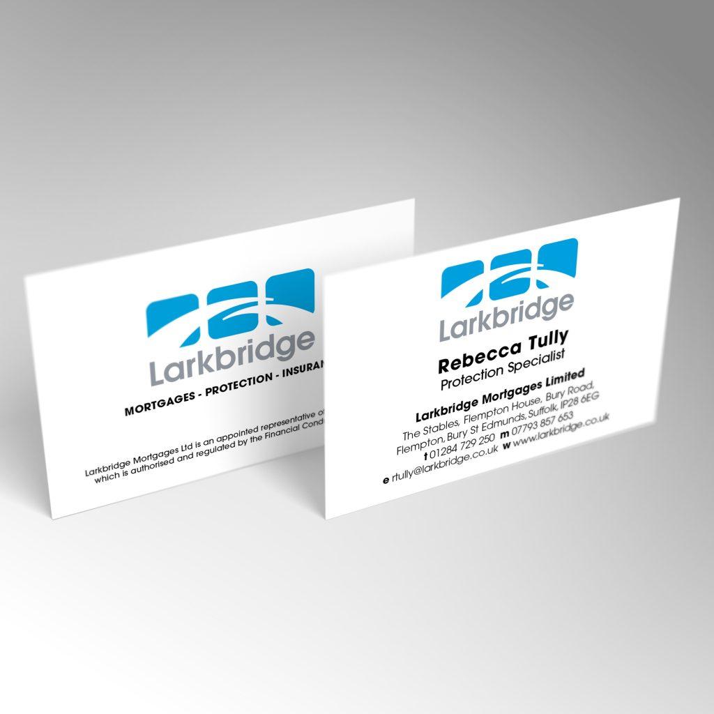 Larkbridge business card front and back