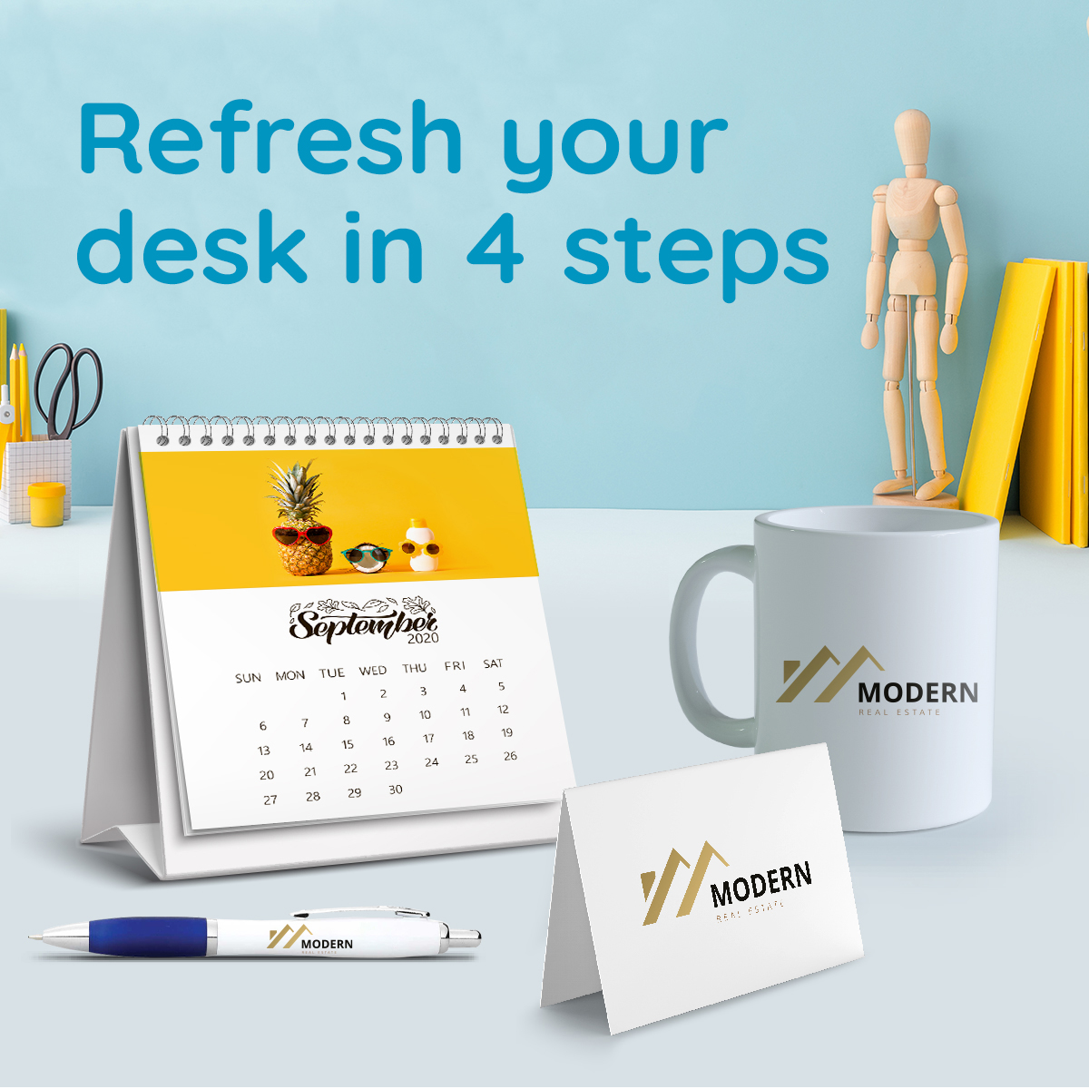 Here are four ways to refresh your desk