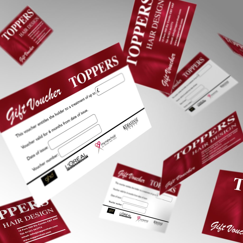 Toppers Hair Design gift voucher