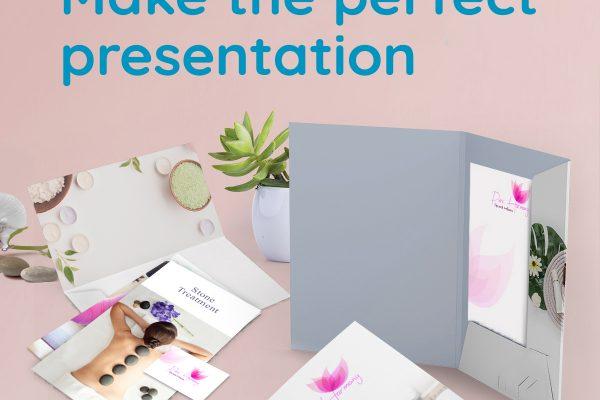 Make the perfect presentation with presentation folders
