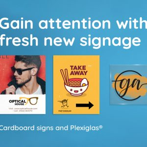 Gain attention with fresh new signage