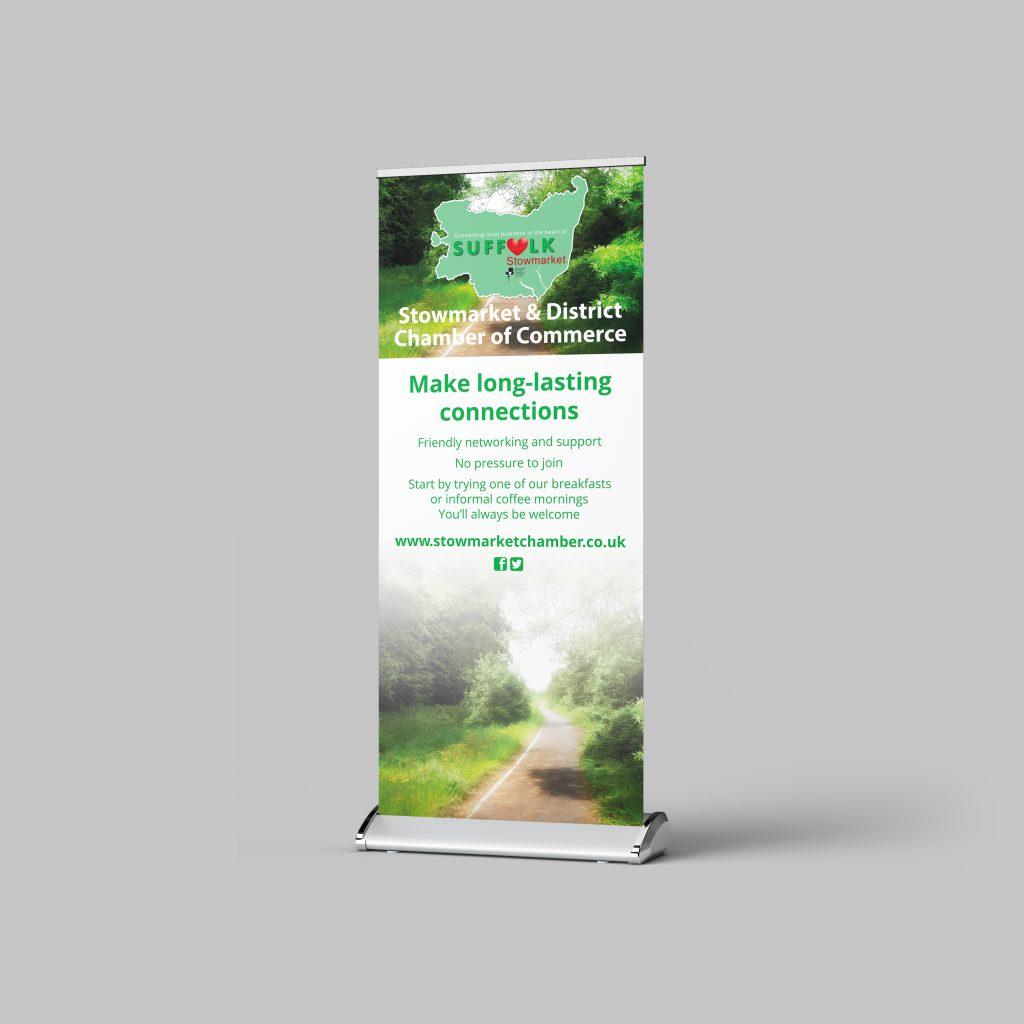 Roller banner design for Stowmarket Chamber of Commerce