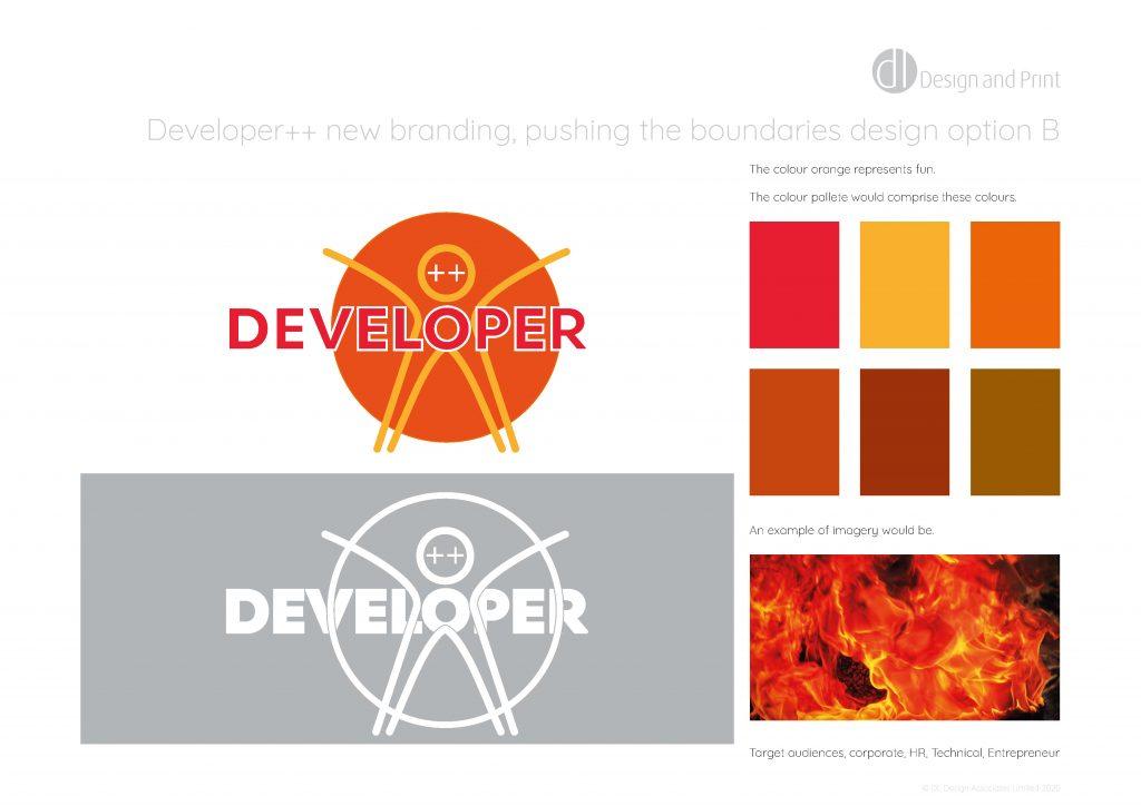 Developer++ new branding pushing the boundaries design option b