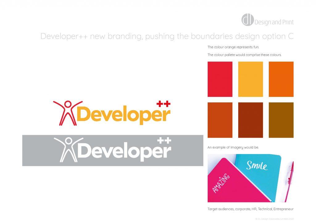 Developer++ new branding pushing the boundaries design option c