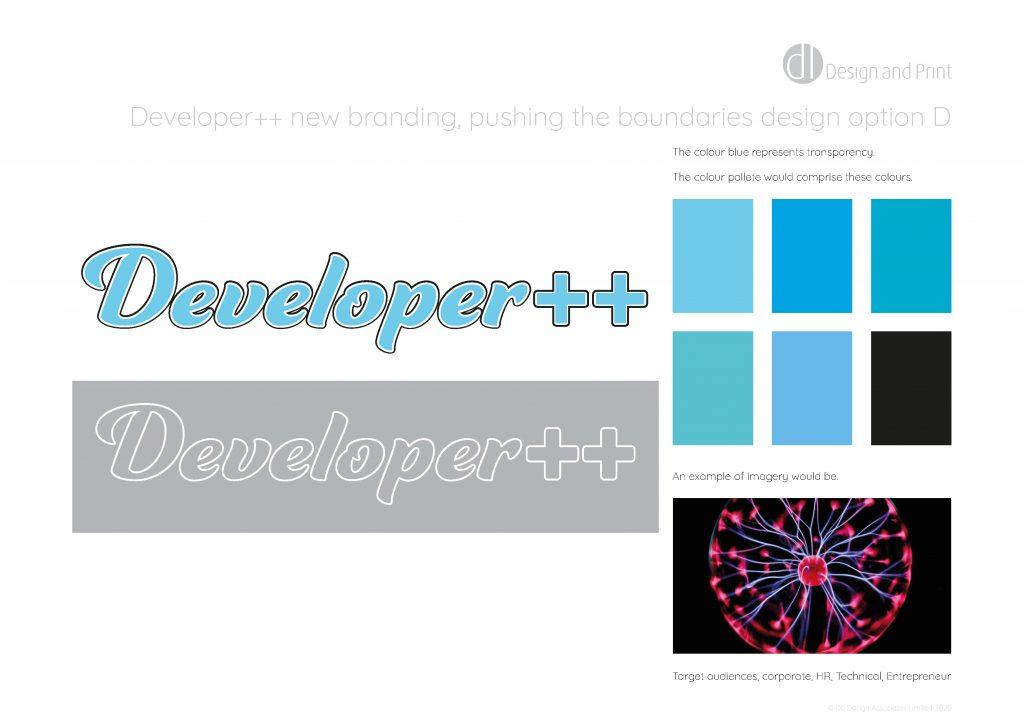 Developer++ new branding pushing the boundaries design option d