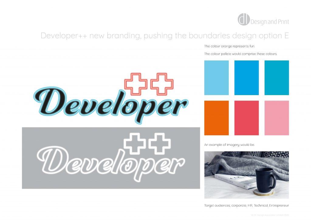Developer++ new branding pushing the boundaries design option e
