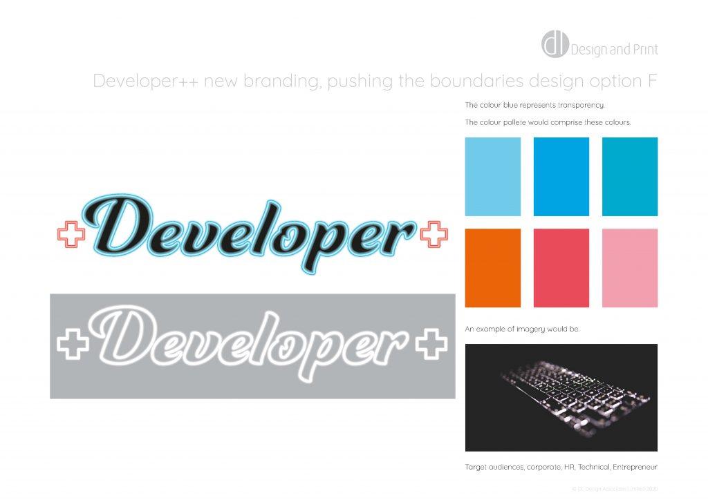 Developer++ new branding pushing the boundaries design option f