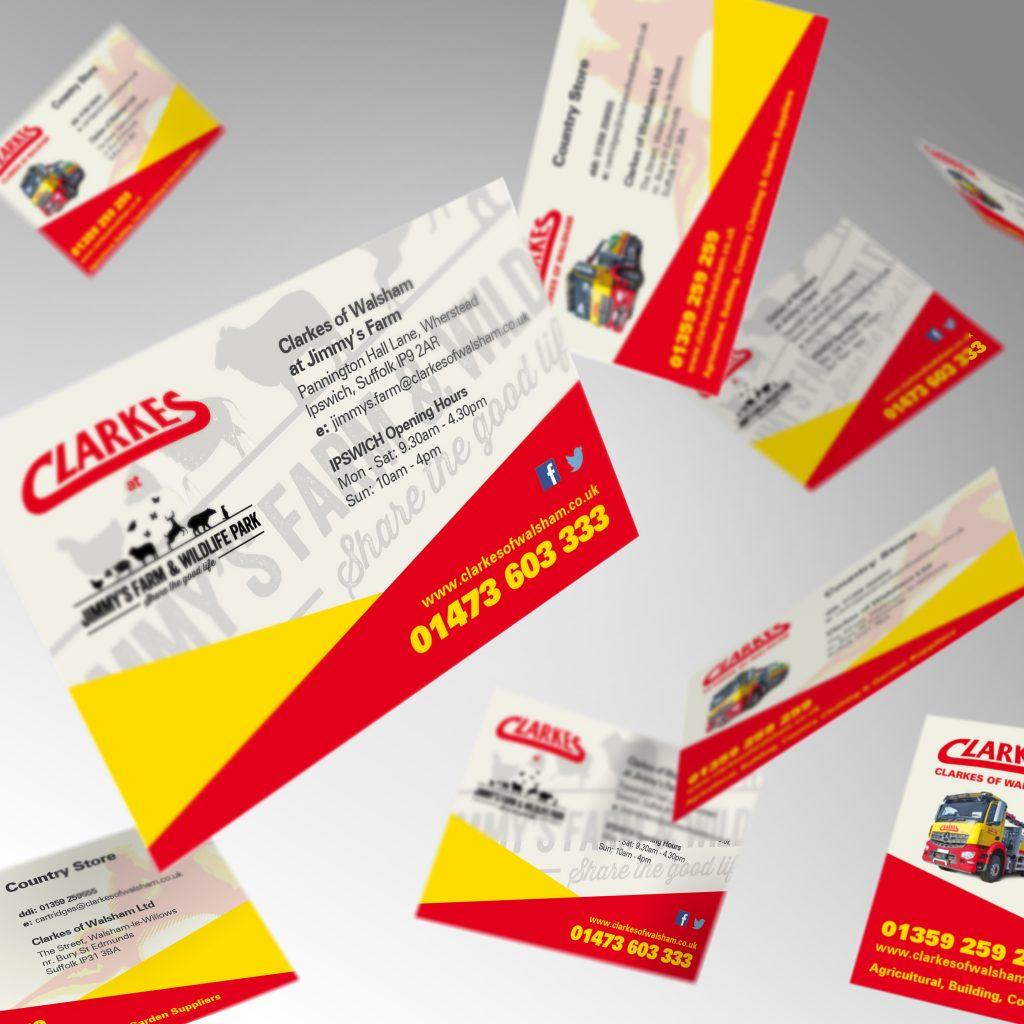 Clarkes of walsham business card