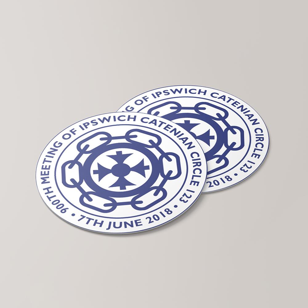 Printed beermat for Ipswich Catenian Circle