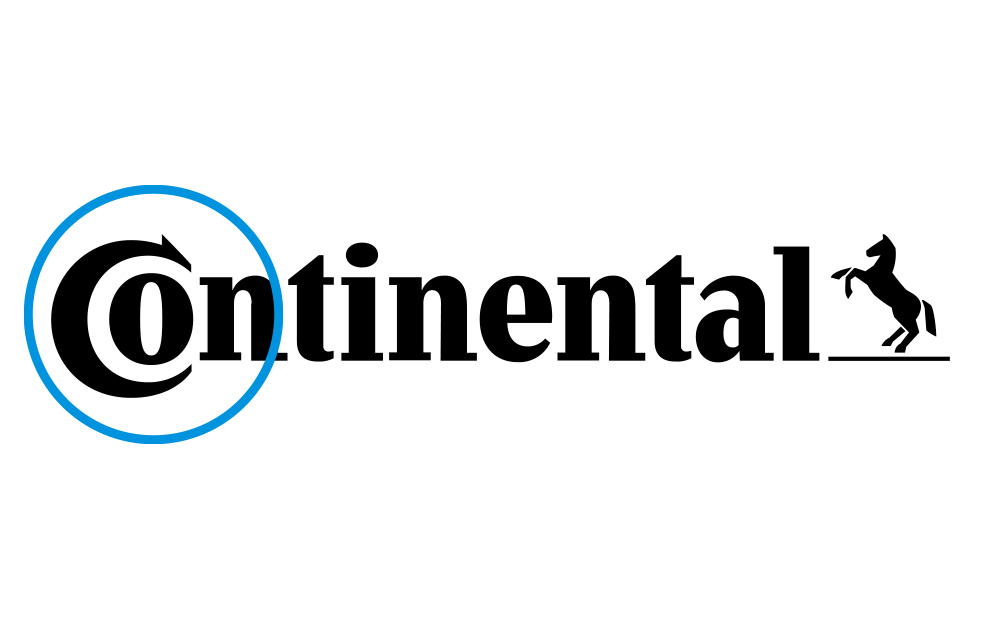 Continental logo with blue circles as highlights