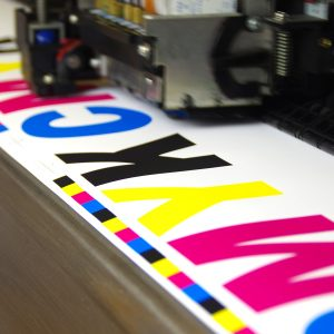 CMYK printing on a large format machine