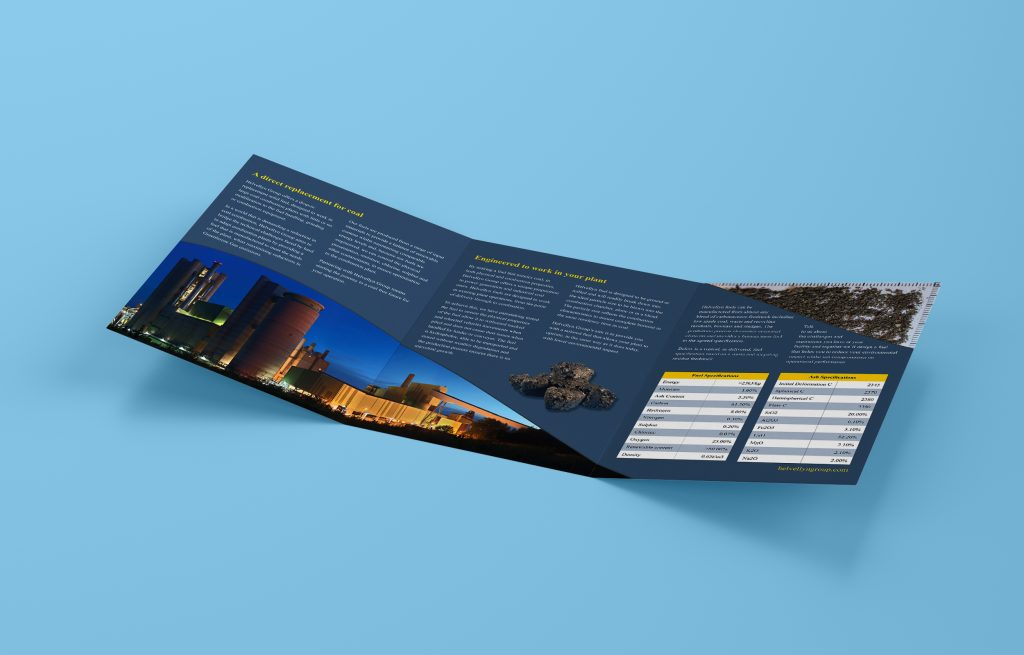 Inside spread of the trifold leaflet