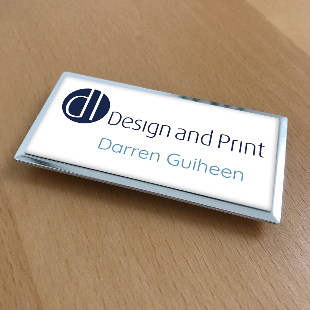 Metal magnetic name badge for DL Design and Print