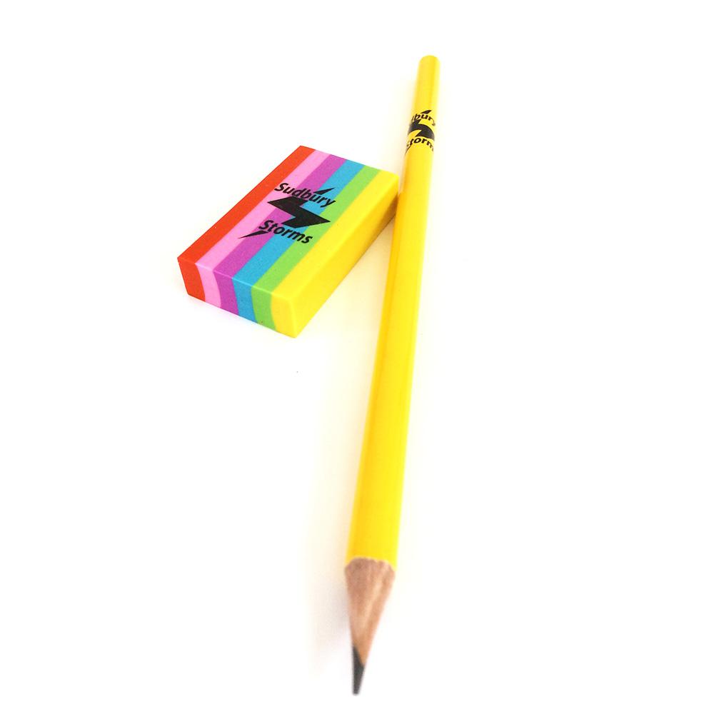 Sudbury Storms pencil and eraser