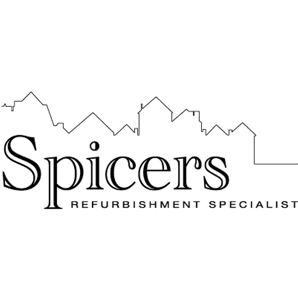 Spicers logo before it has been re drawn