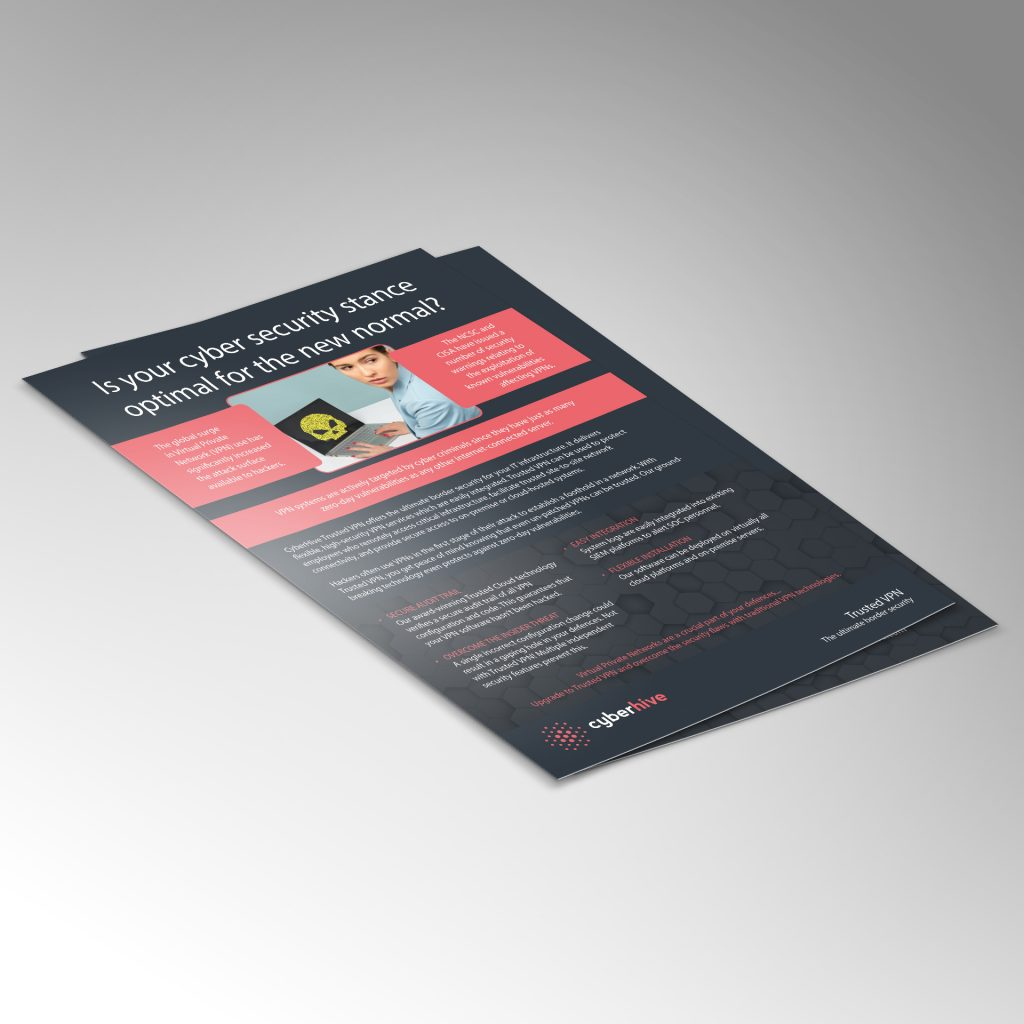 Cyberhive A4 security flyer